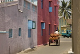 Residential Street in the New Town of Nani Daman  Daman  Gujarat  India  Asia