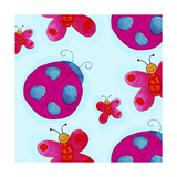 Ladybugs and Butterflies Pattern