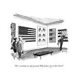 """""""He' s certainly on safe ground Who'd dare not to like them"""" - New Yorker Cartoon"""