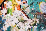 Part of Berlin Wall with Grunge Graffiti Potsdamer Platz  Berlin  Germany