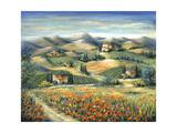 Tuscan Villa and Poppies