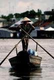 Fisherman on Mekong river (Vietnam)