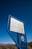 Nevada Test Site Sign at the Site of Mid-Twentieth Century Us Nuclear Weapons Tests  Mercury