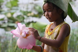 Child and the Flower from Banteay Chhmar (Cambodia)