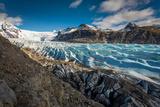 Svinafellsjokull Glacier in Skaftafell National Park  Iceland