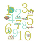 Nature Themed Numbers Reproduction d'art par Rebecca Peragine