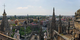 High Angle View of the Seville Cathedral  Seville  Andalusia  Spain