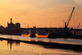 Ships Moored at the New Docking Facility  Drogheda  County Louth  Ireland