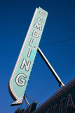 Low Angle View of Sign of El Cortez Hotel and Casino  Fremont Street  Las Vegas  Nevada  USA