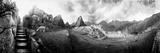 View of an Archaeological Site  Machu Picchu  Cusco Region  Peru