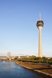 Communications Tower at the Riverside  Rheinturm Tower  Dusseldorf  North Rhine Westphalia  Germany