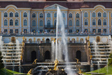 Peterhof Grand Palace and the Grand Cascade  St Petersburg  Russia