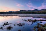 Dawn Breaking over Shaw Pond  Adirondack Park  New York State  USA