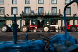 Vintage Tractors Lined Up Outside Lalors Hotel  Dungarvan  County Waterford  Ireland