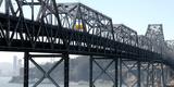 Abandoned Old Bridge and Yerba Buena Island Viewed from San Francisco-Oakland Bay Bridge