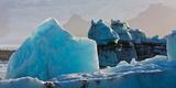 Icebergs at the Jokulsarlon Glacial Lagoon  Breidamerkurjokull  Vatnajokull Ice Cap  Iceland