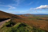 The Coomanaspig Pass  Overlooking Portmagee  the Ring of Kerry  County Kerry  Ireland