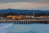 Harbor and Municipal Wharf at Dusk  Santa Cruz  California  USA