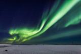 Aurora Borealis or Northern Lights  Iceland  Power Lines by the Jokulsarlon