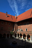 The Courtyard of 15th Century Jagiellonian University the Astronomer Copernicus