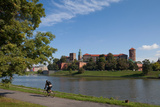 The River Wisla Passing the 11th Century Royal Castle  Wawel Hill  Krakow  Poland