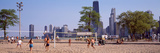 People Playing Beach Volleyball  Chicago  Cook County  Illinois  USA