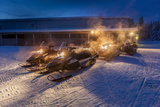 Snowmobiles in the Freezing Cold Temperatures as Low as -47 Celsius Lapland  Sweden