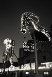 Ruby Slipper Neon Sign Lit Up at Dusk  Fremont Street  Las Vegas  Nevada  USA