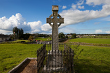 Celtic Cross Overlooking the Green Fields  Athenry  County Galway  Ireland