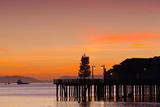 Silhouette of a Pier  Stearns Wharf  Santa Barbara  California  USA
