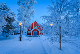 Cold Winter with Temperatures Going to -47 Celsius. Lapland, Sweden Papier Photo par Green Light Collection