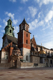 Ther Wawel Cathedral Tower and the Domes Above the Sigismund Chapel