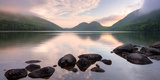 Morning Mist on Jordan Pond  Acadia National Park  Maine  USA