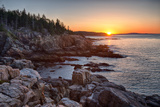 Rocks on the Coast at Sunrise  Little Hunters Beach  Acadia National Park  Maine  USA
