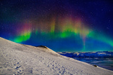 Aurora Borealis or Northern Lights in Full Color Seen from the Abisko Sky Station  Abisko