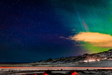 Aurora Borealis or Northern Lights  Reykjanes Peninsula  Iceland