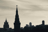 Silhouette of Kremlin Towers  Moscow  Russia
