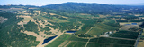 Aerial View of Vineyards with Sonoma Mountains in the Background  Kunde Estate Winery