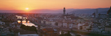 Sunset over a City  Florence  Tuscany  Italy