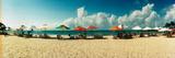 People Relaxing under Umbrellas on the Beach  Morro De Sao Paulo  Tinhare  Cairu  Bahia  Brazil