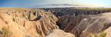 View of Badlands National Park  South Dakota  USA