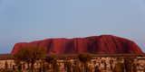 Ayers Rock at Dusk  Northern Territory  Australia