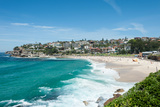 High Angle View of the Bronte Beach  Sydney  New South Wales  Australia