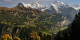 Lauterbrunnen Valley with Mt Eiger and Mt Monch in the Background  Sulwald  Bernese Oberland