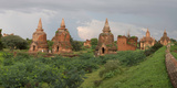 Ruined Stupas Near Village of Min Nan Thu  Bagan  Mandalay Region  Myanmar
