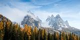 Dolomite Mountains in Fall  Toblach  Alto Adige  Italy