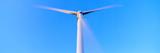 Low Angle View of a Wind Turbine  Halkburn  Scottish Borders  Scotland