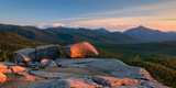 Evening Light on the Balanced Rocks on Pitchoff Mountain  Adirondack Park  New York State  USA