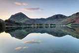 Reflection of Mountains in the Lake  Buttermere Lake  English Lake District  Cumbria  England