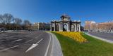 Memorial Gate in a City  Alcala Gate  Madrid  Spain